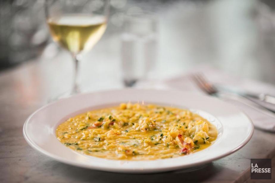 Au menu: risotto de homard, basilic et betteraves... (PHOTO IVANOH DEMERS, LA PRESSE)