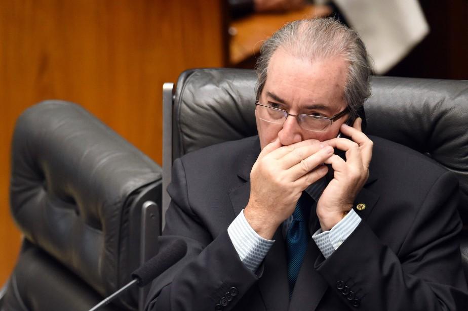 Député évangélique ultraconservateur, Eduardo Cunha, 57 ans, est... (PHOTO ANDRESSA ANHOLETE, ARCHIVES AFP)