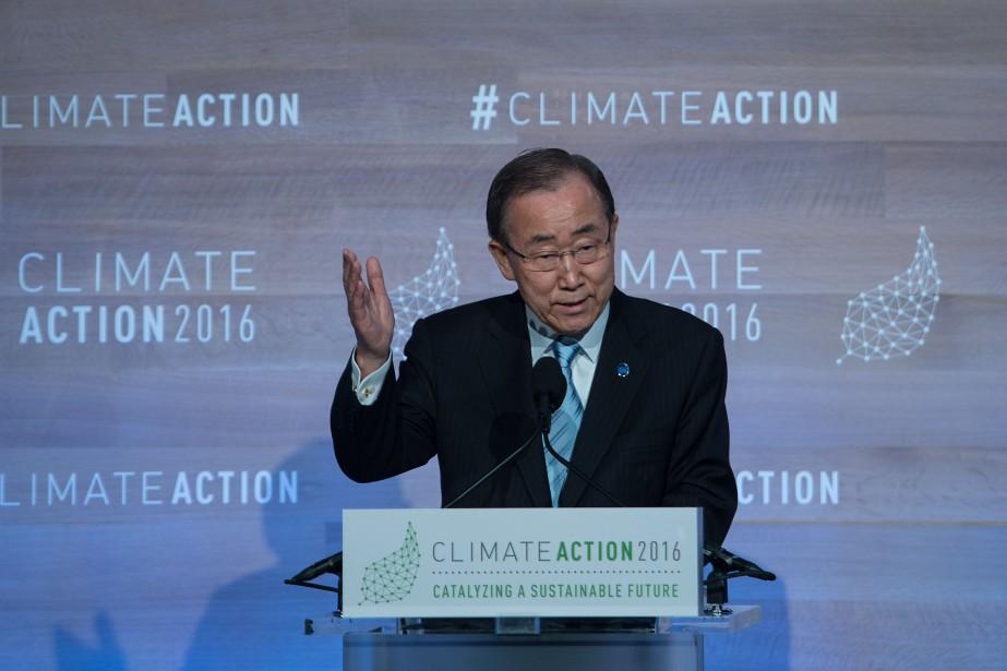 Le secrétaire général de l'ONU, Ban Ki-moon.... (PHOTO NICHOLAS KAMM, AGENCE FRANCE-PRESSE)