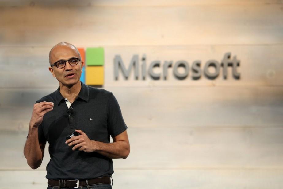 Le patron de Microsoft, Satya Nadella.... (PHOTO ROBERT GALBRAITH, ARCHIVES REUTERS)