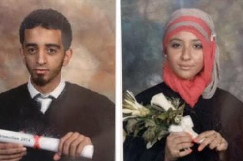 Les accusées, El-Mahdi Jamali et Sabrine Djaermane... (PHOTO TIRÉE DU COMPTE TWITTER DE RADIO-CANADA)