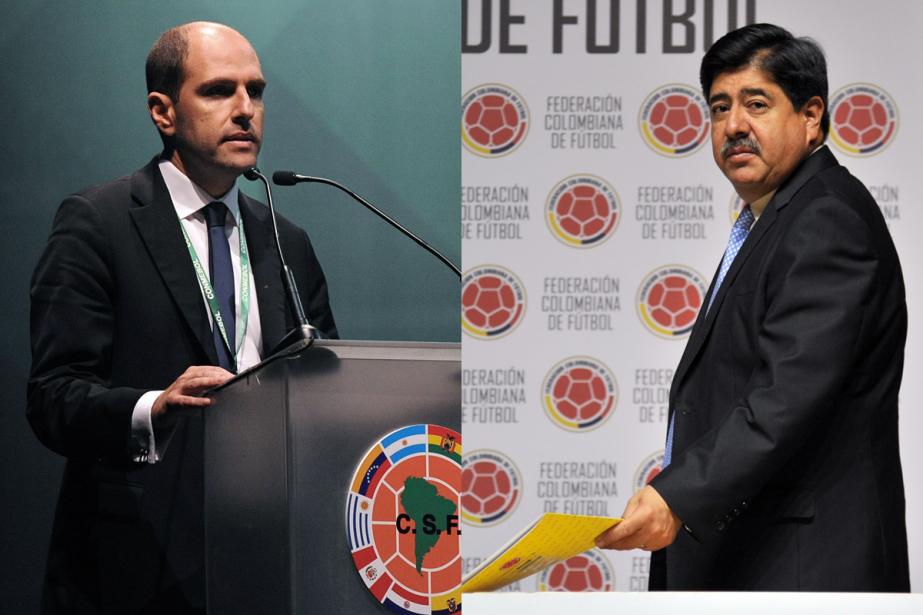 Le Chilien Sergio Jadue et le Colombien Luis... (Photos AFP)