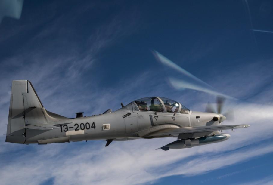 Un Super Tucano A-29.... (Photo Reuters)