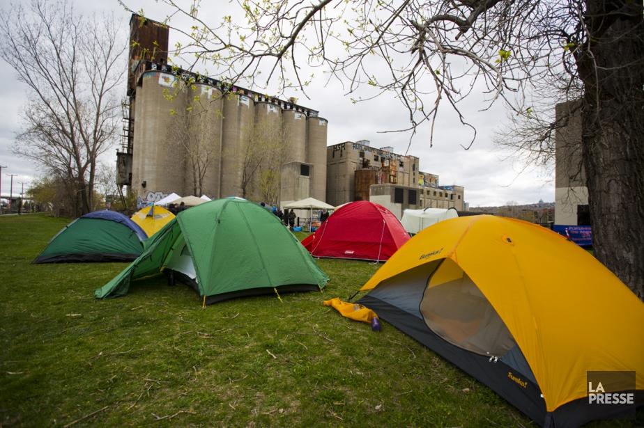 Une semaine nationale d'occupation de terrains et de... (Photo Olivier Jean, La Presse)