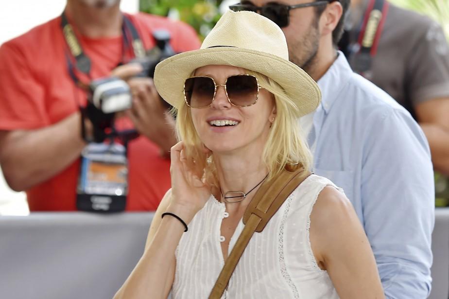 Naomi Watts à son arrivée à l'hôtel Grand Hyatt Cannes Martinez, mardi (AFP, Loïc Venance)