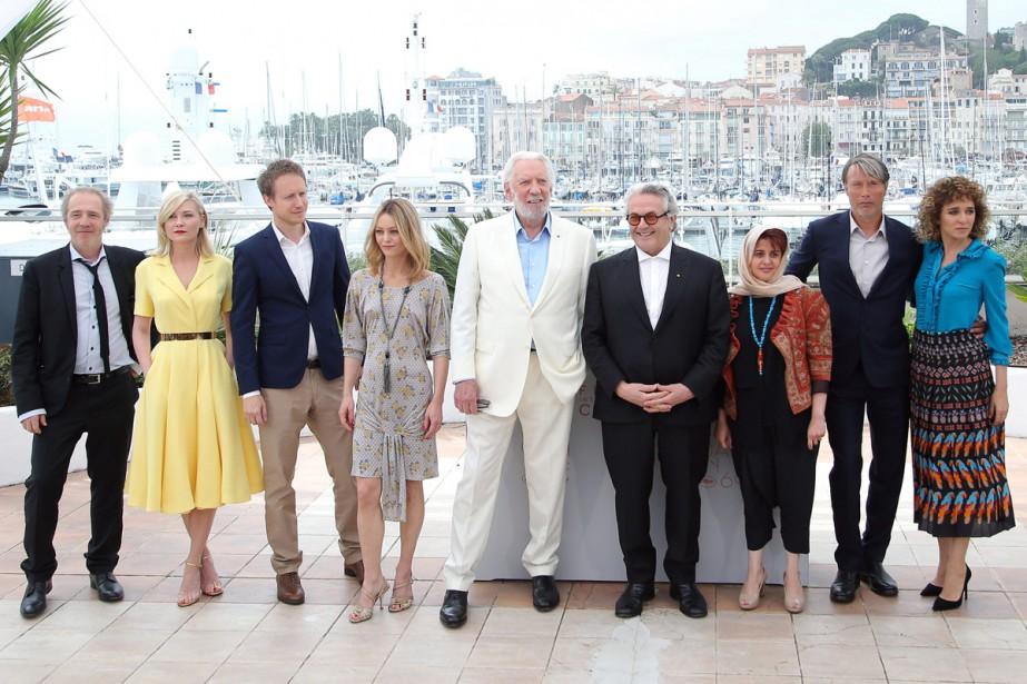 Le jury du 69e Festival de Cannes: Arnaud... (PHOTO AP)