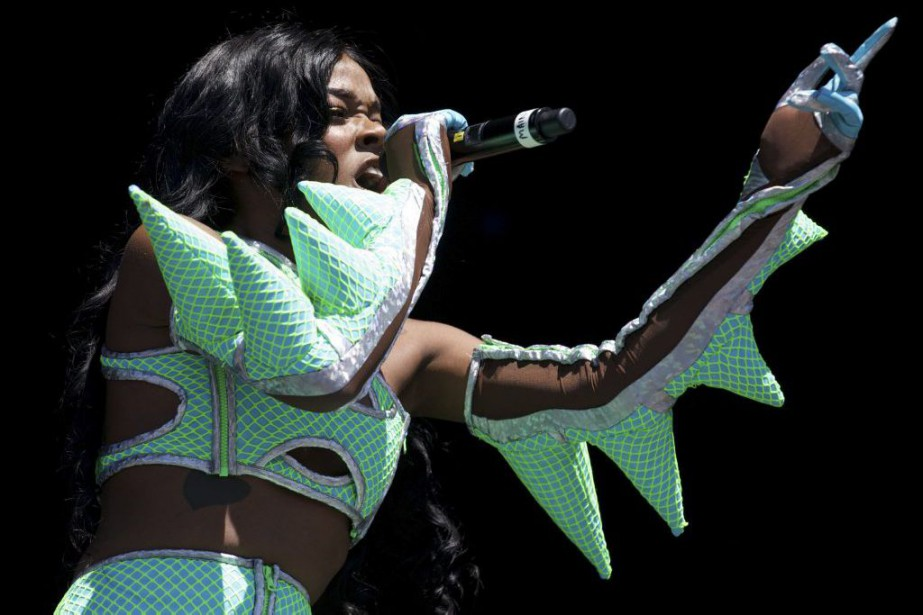 Azealia Banks en spectacle au festival de Glastonbury... (PHOTO ARCHIVES AFP)