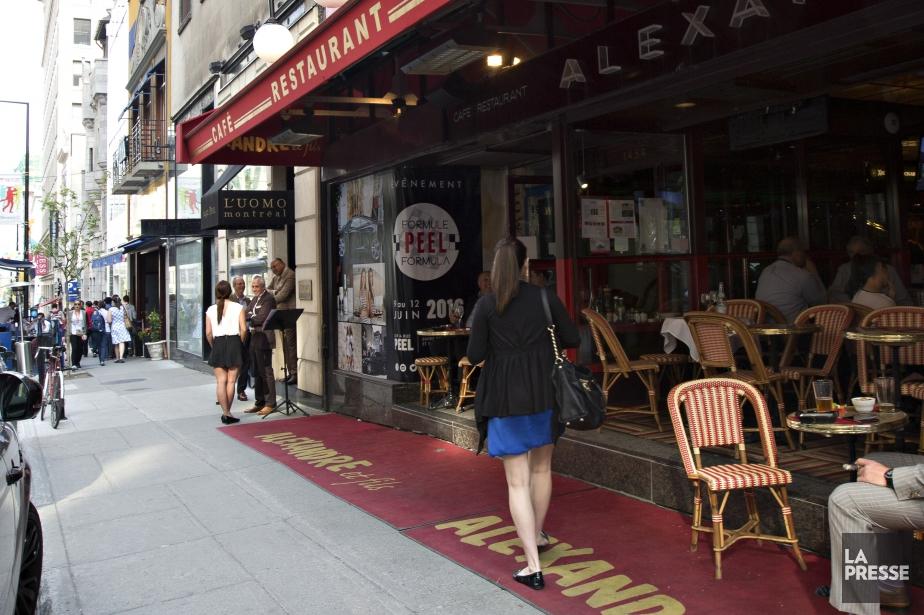 La terrasse du restaurant Chez Alexandre était installée... (Photo Olivier Jean, La Presse)