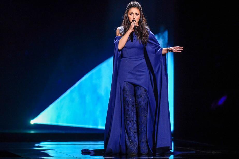 L'Ukrainienne Dzjamala chante la chanson 1944, une chanson... (PHOTO REUTERS)