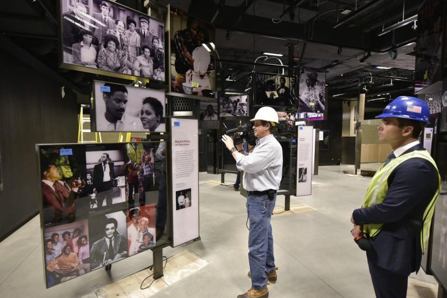 Le NMAAHC, actuellement en chantier, a été présenté... (PHOTO MANDEL NGAN, AFP)