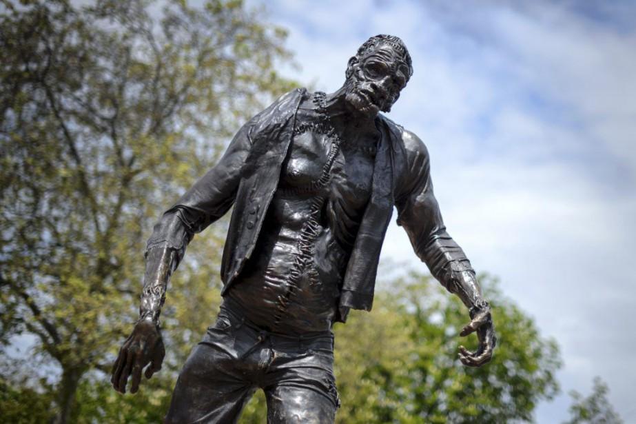 Une statue de Frankenstein.... (PHOTO AFP)