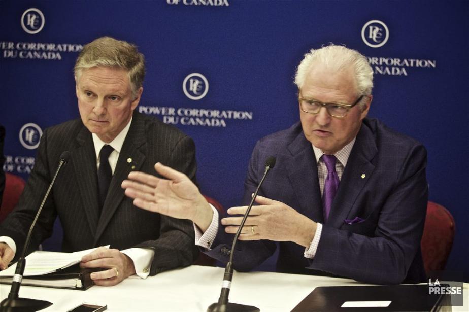 Les deux principaux dirigeants de Power Corporation, Paul... (PHOTO ANDRÉ PICHETTE, LA PRESSE)