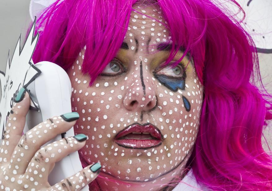 Lyne Champagne, en personnage de Pop-Art (Martin Roy, LeDroit)