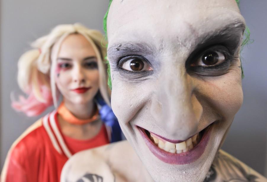 Le duo du film<em> Suicide Squad</em>:<em></em>Harley Quinn (Lyne Champagne) et le Joker (Spider Inferno) (Martin Roy, LeDroit)