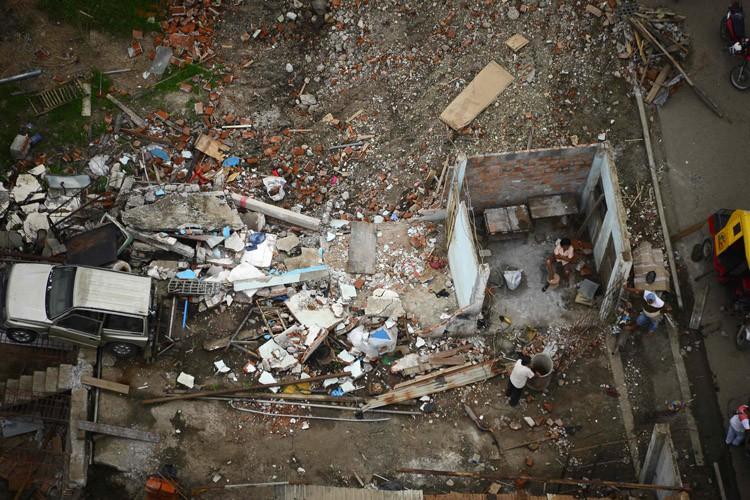 Le séisme du 16 avril a fait 661... (PHOTO AFP)