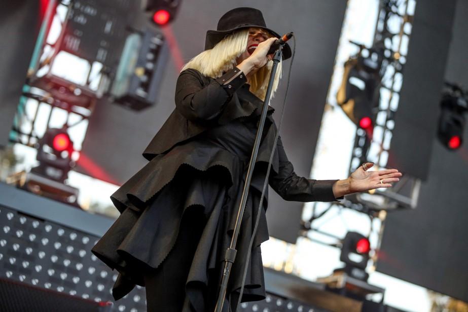La chanteuse Sia lors d'une performance en 2015... (photoRich Fury, archives associated press)
