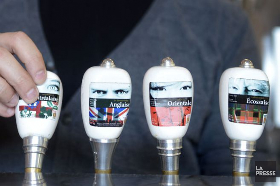 Quelques-unes des bières offertes en fût chez Brasseur... (Photo Bernard Brault, archives La Presse)