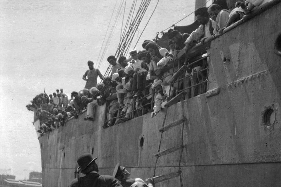 Le navire transportait 376 passagers indiens, presque tous... (PHOTO ARCHIVES DE LA VILLE DE VANCOUVER VIA REUTERS)
