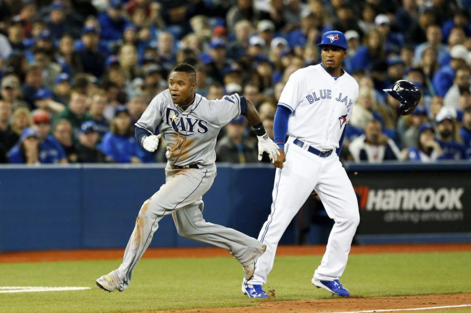 Tim Beckham et Gavin Floyd, mercredi soir... (Photo Kevin Sousa, USA Today)