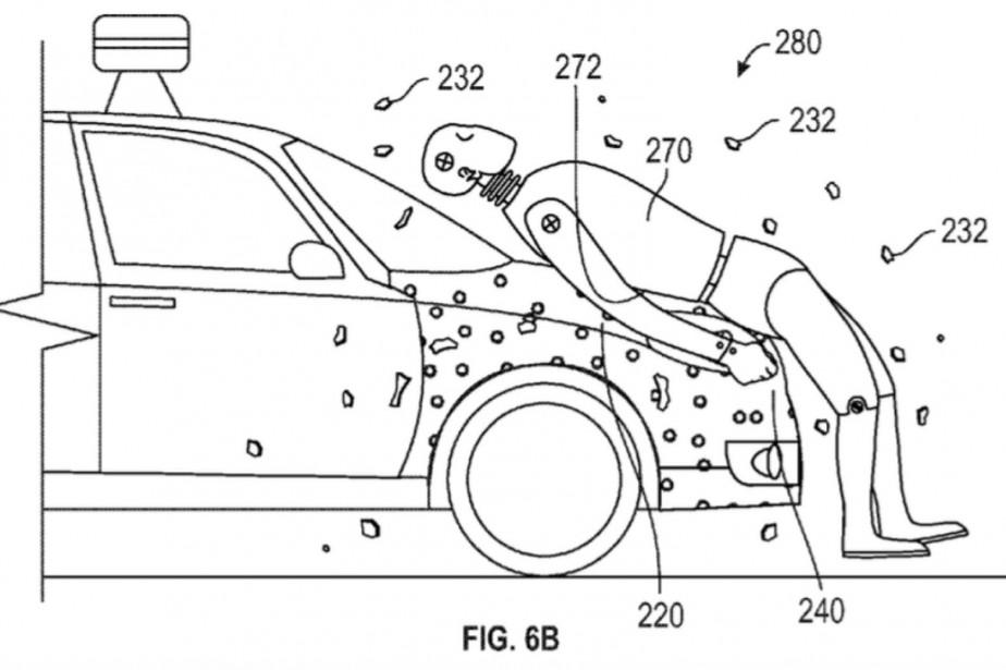 Ce capot attrape-victime Google secrèterait une puissante glu... (Image : US Patent and Trademark Office)
