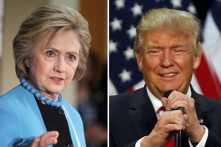 Hillary Clinton et Donald Trump.... (PHOTOS ARCHIVES REUTERS)