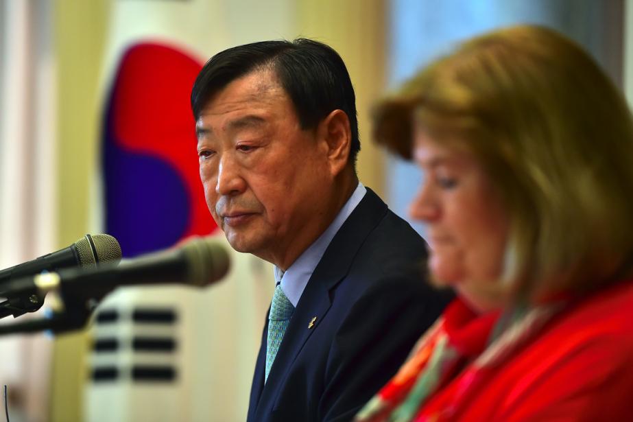 Le président du comité organisateur des Jeux olympiques... (Photo Jung Yeon-Je, AFP)