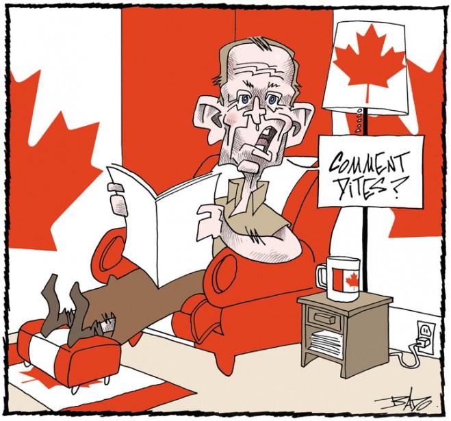 Caricature publiée le11 juin 2002, en marge du scandale des commandites. (Bado, LeDroit)