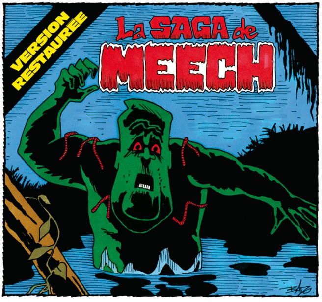 Caricature publiée le16 avril 1997. Brian Mulroney s'empêtre dans lasaga du lac Meech. (Bado, LeDroit)