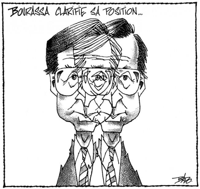 Caricature publiée le 7 février 1991. Ce dessin a valu à Bado le Grand prix du Concours canadien de journalisme, cette année-là. (Bado, LeDroit)