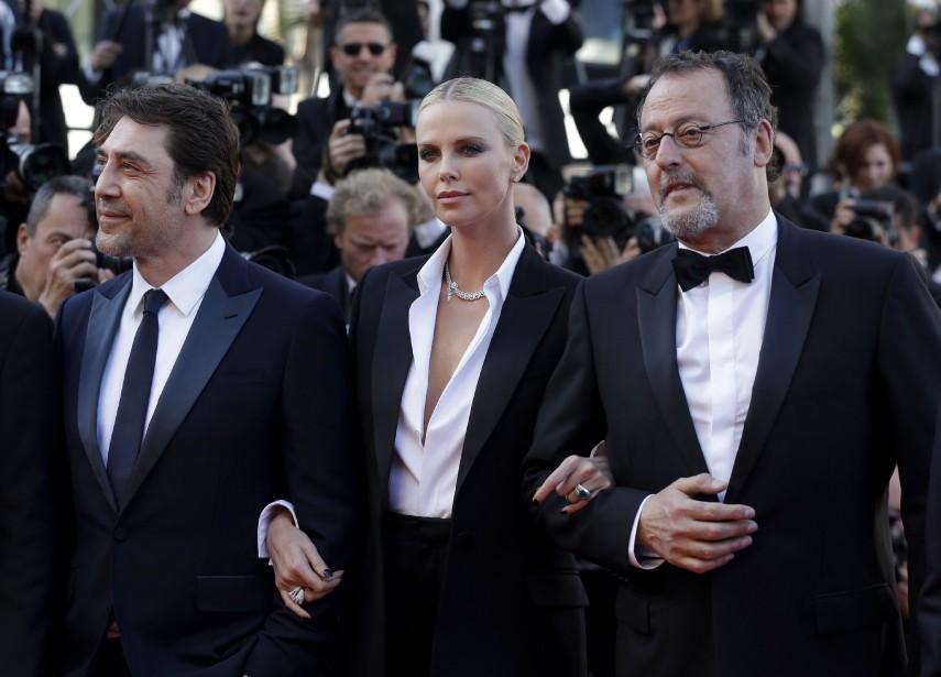 Javier Bardem, Charlize Theron et Jean Reno (AP)