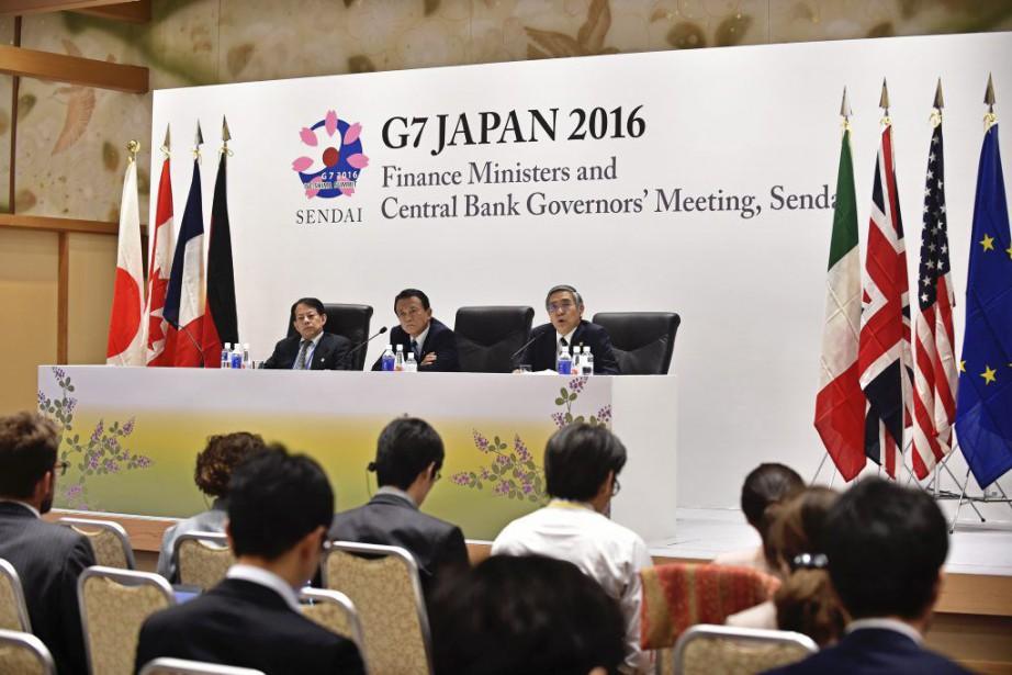 Dans un document final, les ministres des Finances... (PHOTO KAZUHIRO NOGI, AFP)