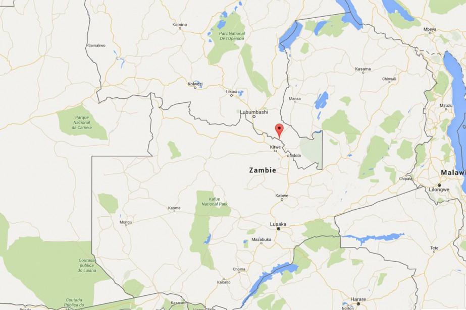 Trente-sept Zambiens sont morts vendredi dans... (CAPTURE D'ÉCRAN GOOGLE MAPS)