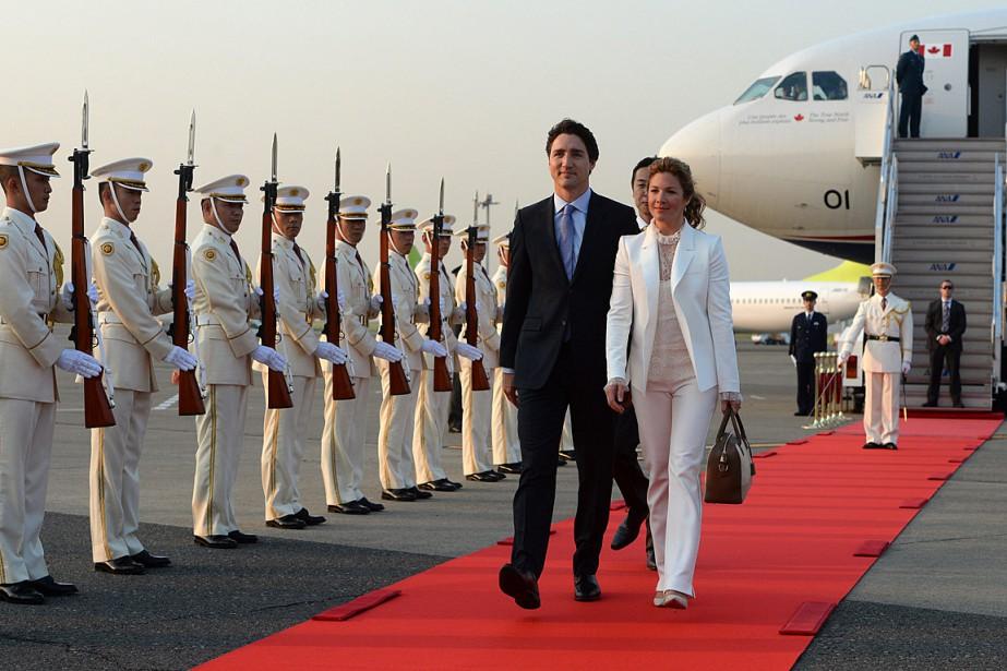 Le premier ministre du CanadaJustin Trudeau et son... (Sean Kilpatrick, La Presse Canadienne)