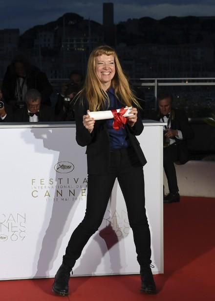 Le Prix du jury est revenu à la réalisatrice britannique Andrea Arnold, pour son film <em>American Honey</em>. (AFP, Anne-Christine Poujoulat)