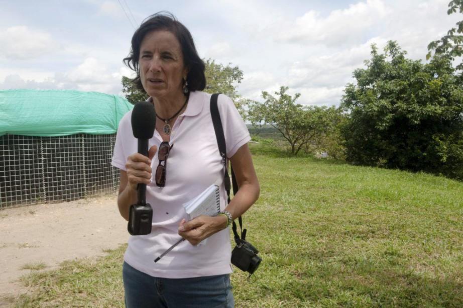La journaliste Salud Hernandez.... (Photo AFP)