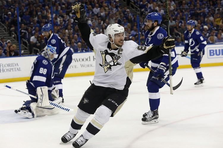 Sidney Crosby a marqué son sixième but des... (PHOTO REUTERS)