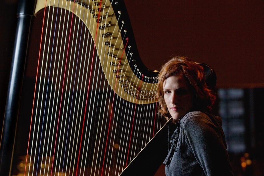 La harpiste Valérie Milot sera la soliste en... (PHOTO OLIVIER JEAN, LA PRESSE)