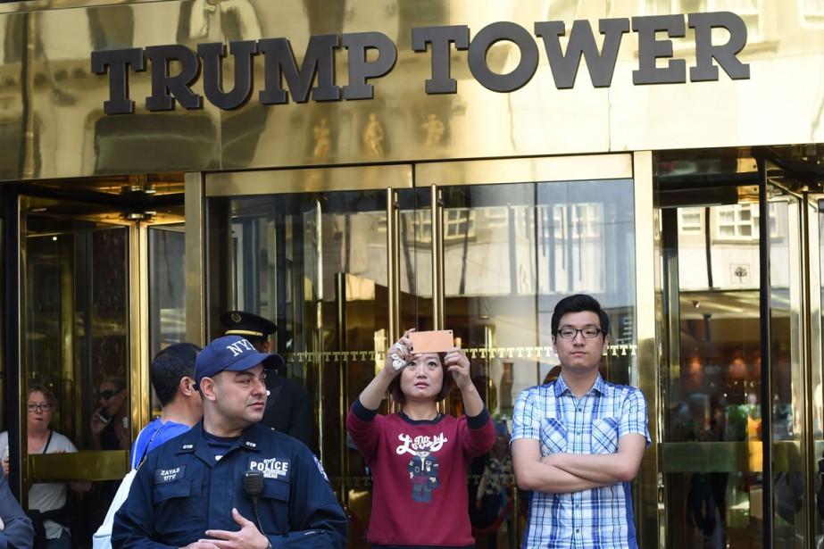 Ces derniers jours, à la Trump Tower, on... (PHOTO AFP)