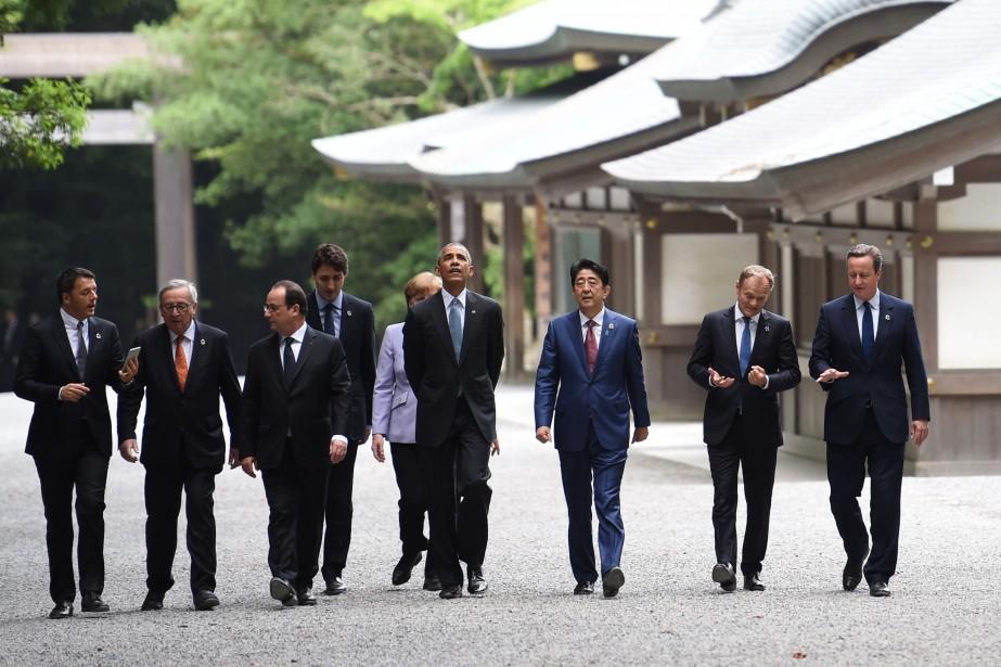 Les dirigeants des pays membres du G7 devront... (PHOTO STEPHANE DE SAKUTIN, AFP)