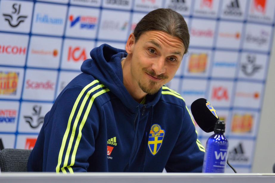 Zlatan Ibrahimovica esquivé toutes les questions sur Manchester... (Photo Marcus Ericsson, AP)