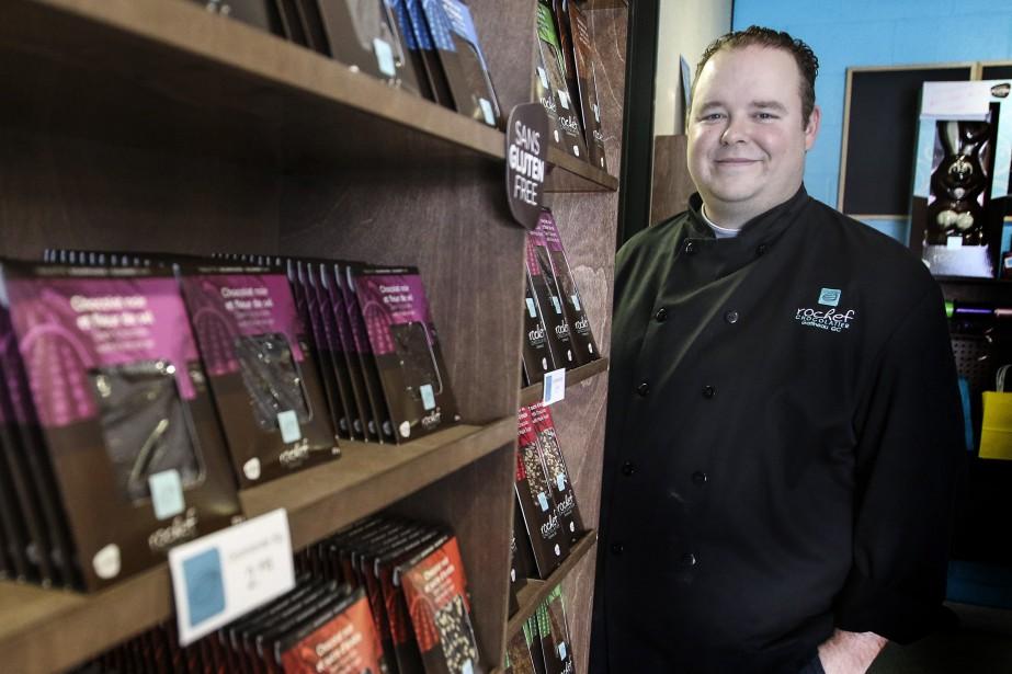 Roch Fournier, fondateur de Rochef Chocolatier, réalise 10... (Photo Patrick Woodbury, Le Droit)
