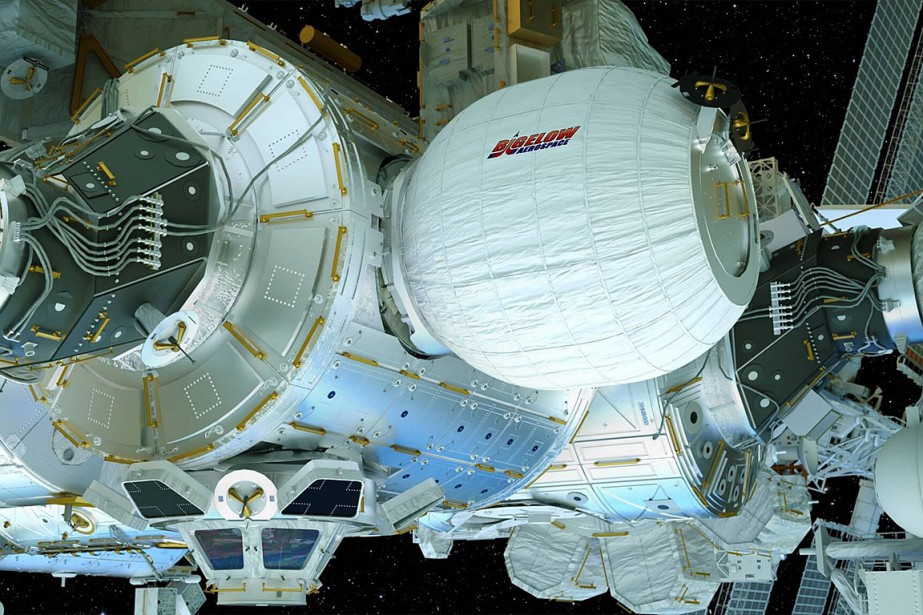 On voit sur cette illustration unmodule gonflable expérimental... (Illustration Bigelow Aerospace via AP)