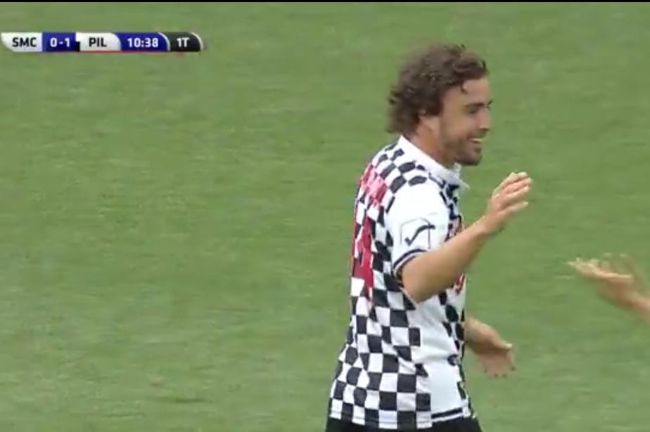 Fernando Alonso a marqué un but remarqué lors...
