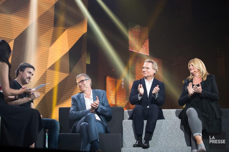 Le panel réunissait Guy A. Lepage, Guy Crevier,... (PHOTO IVANOH DEMERS, LA PRESSE)