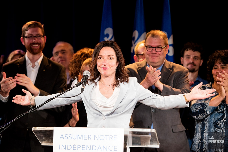 La candidate à la direction du PQ Martine... (PHOTO ALAIN ROBERGE, LA PRESSE)
