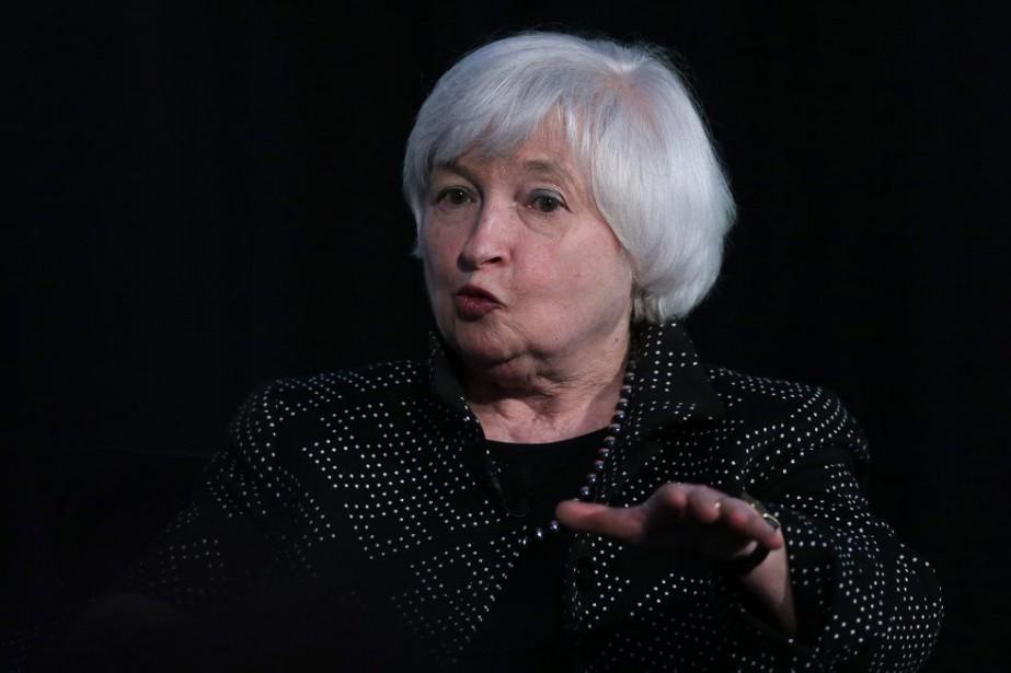 La présidente de la banque centrale américaine (Fed)... (PHOTO CHARLES KRUPA, AP)