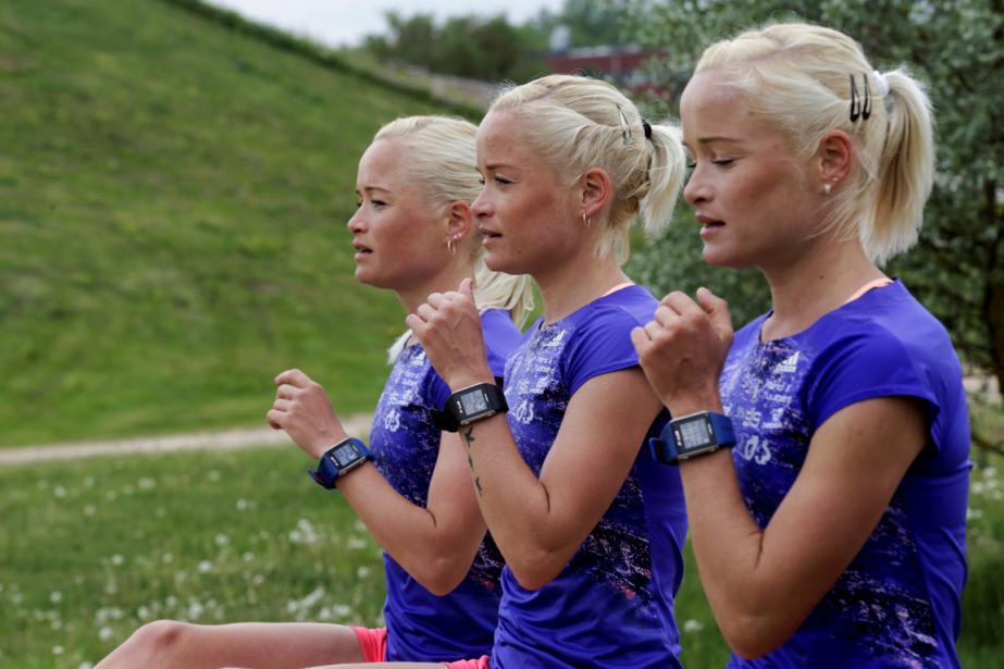 Lily, Liina et Leila Luik... (Photo Ints Kalnins, Reuters)