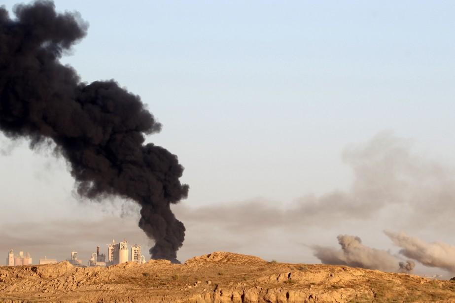 Les forces irakiennes ont lancé lundi une opération... (PHOTO AHMAD AL-RUBAYE, AFP)