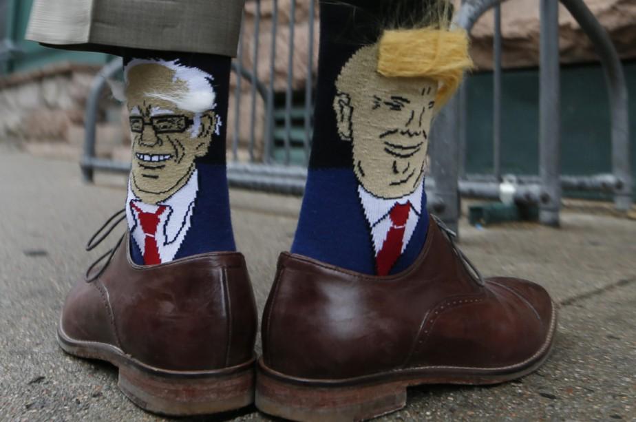 Après avoir accepté l'idée d'un débat avec Bernie... (Photo AP)