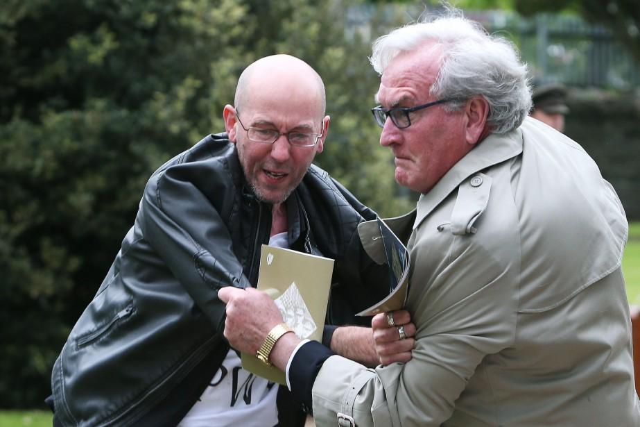 Kevin Vickers a maîtrisé un manifestant lors d'une... (Photo Brian Lawless, Reuters)